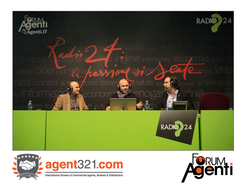 Radio24 live from Forum Agenti during one of their most popular programs