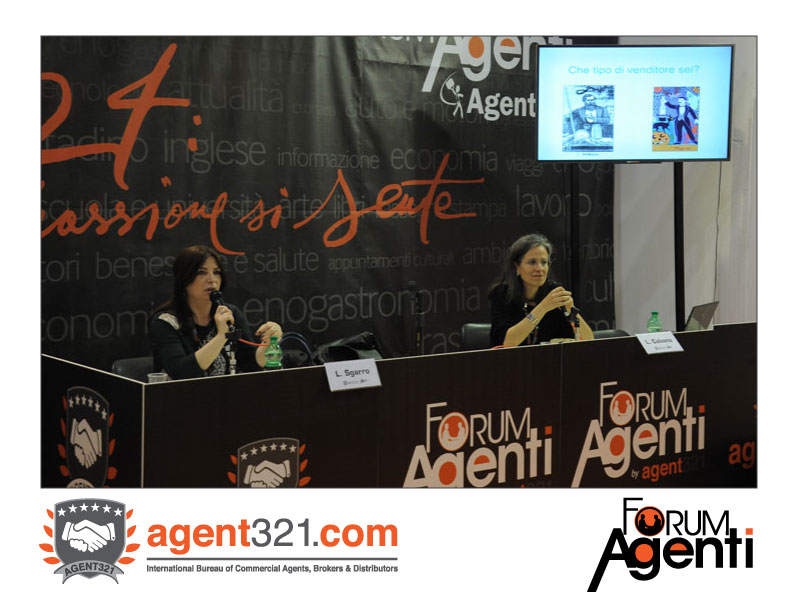 Lidia Calvano and Luigina Sgarro at Forum Agenti Rome 2014