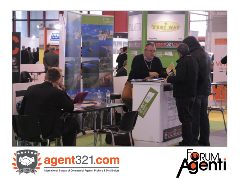 The slovenian companies' area at Forum Agenti Mediterranean