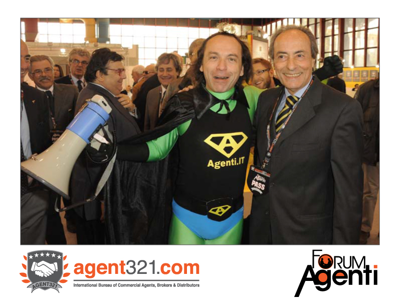 Capitan Agenti at the inauguration of Forum Agenti Mediterranean