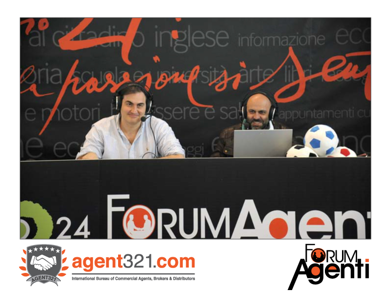 Radio 24 en direct de Forum Agenti Méditerranée